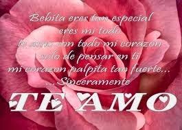 Frases De Amor: Bebita Eres muy Especial Eres Mi Todo Te Amo