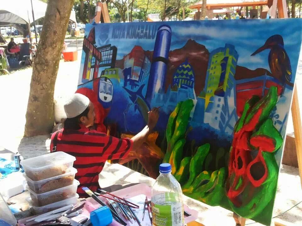 Seni visual laman ilmu dan kreativiti lukisan mural for Mural 1 malaysia