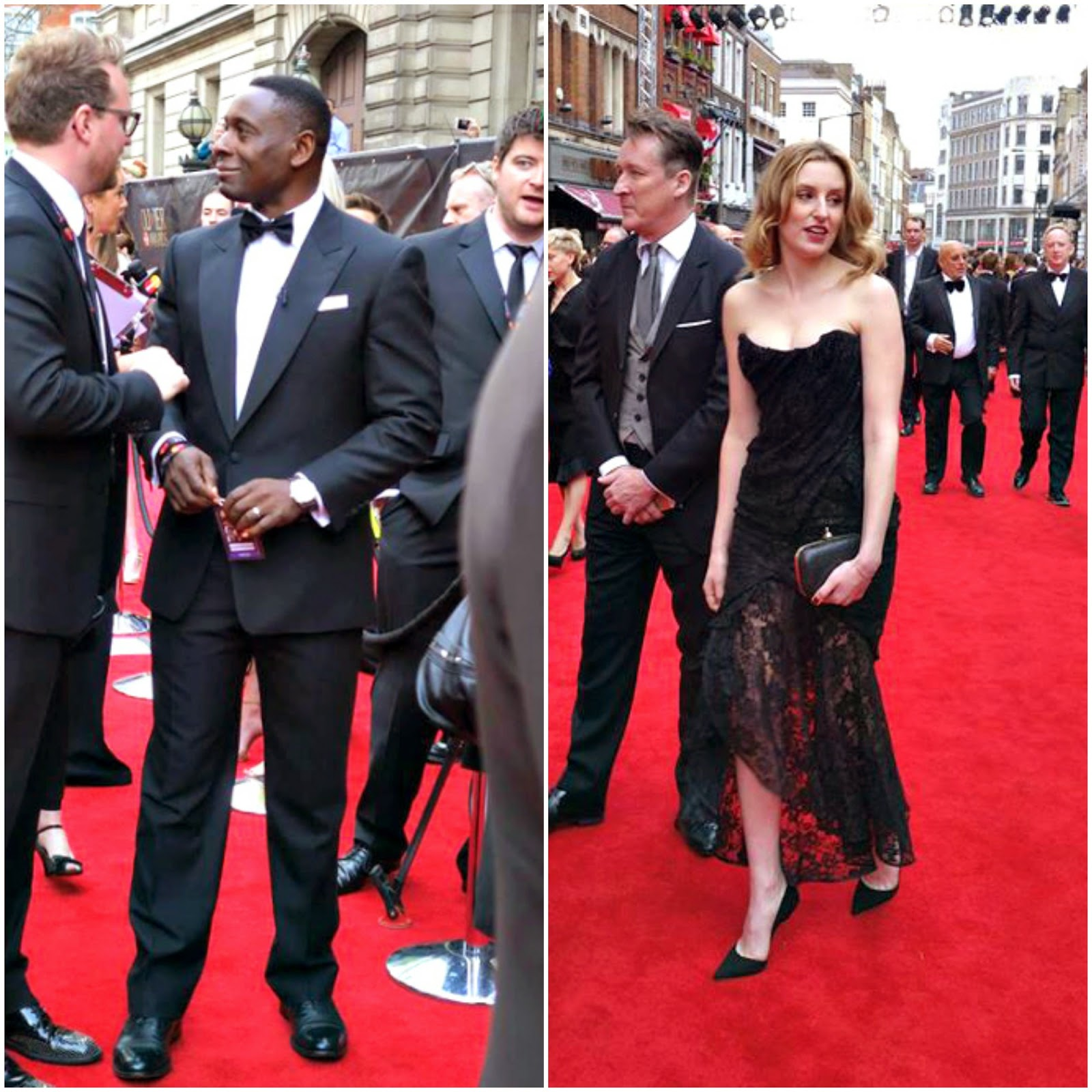 David Harewood and Laura Carmichael Olivier Awards Red Carpet