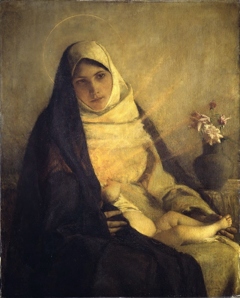 """The Madonna of the Rose"" (1885) ."
