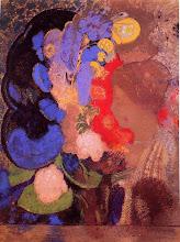 Femme parmi les fleurs 1909