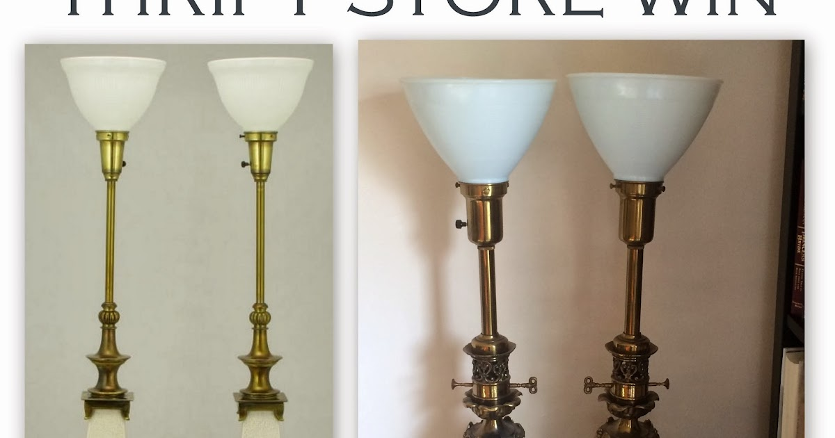 Librarian tells all thrift store win vintage stiffel for 1940s torchiere floor lamp
