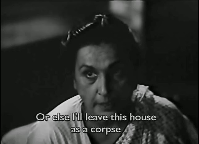 Or else I'll leave this house as a corpse