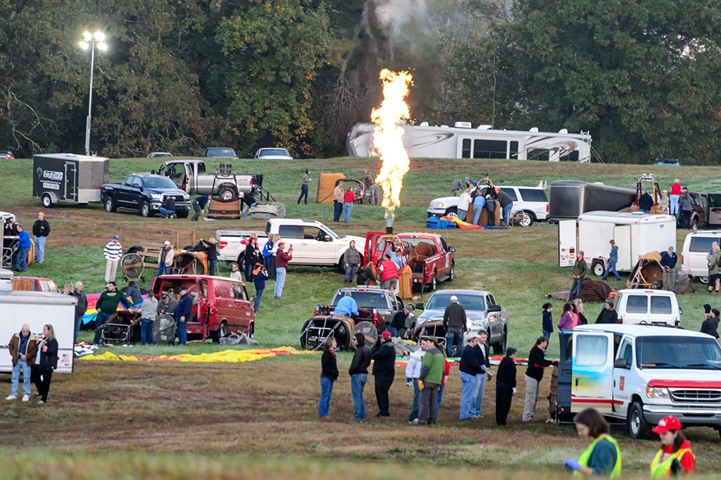 Testing burners at Carolina BalloonFest