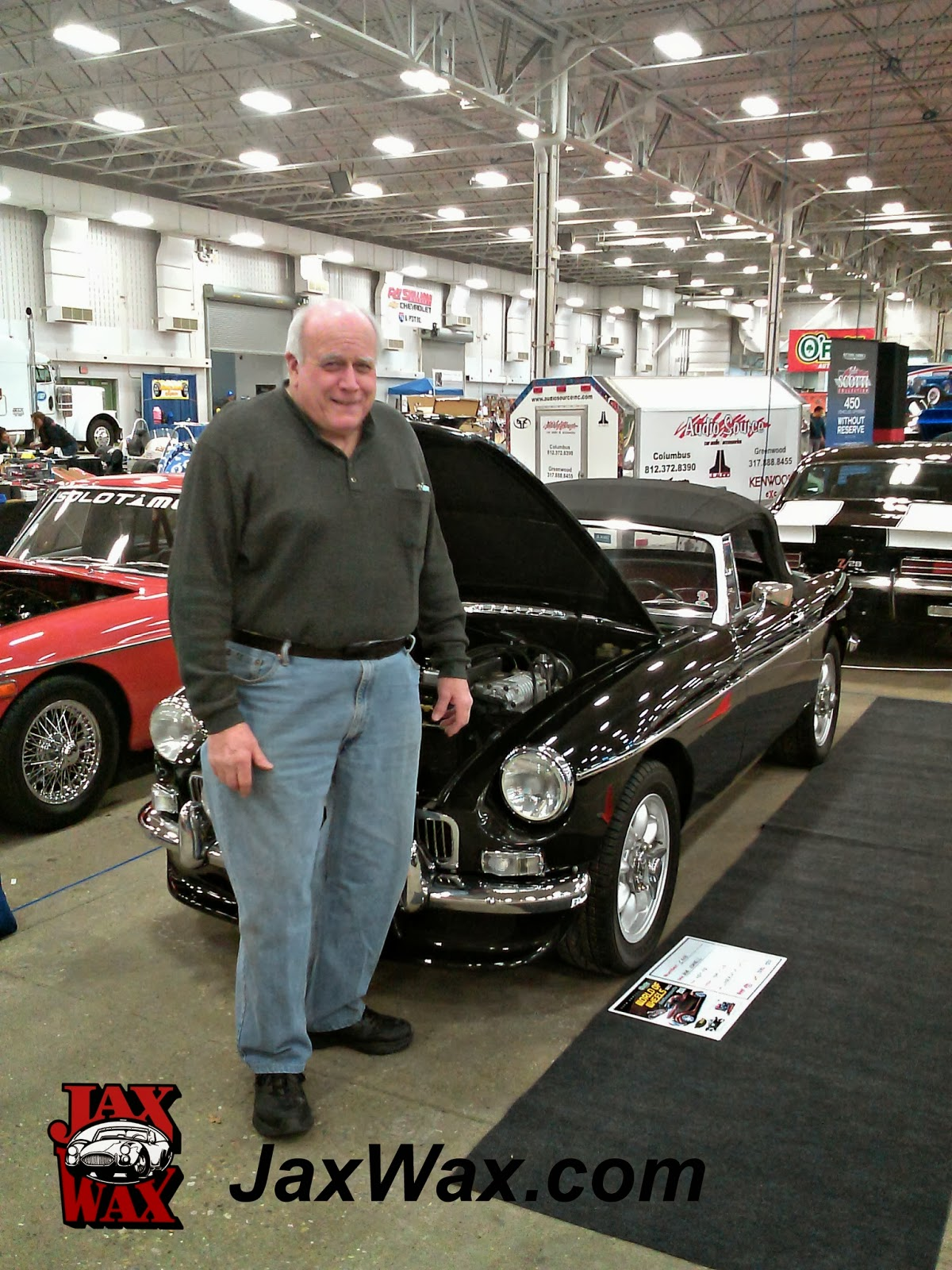 1964 MGB Indianapolis World of Wheels Jax Wax Customer