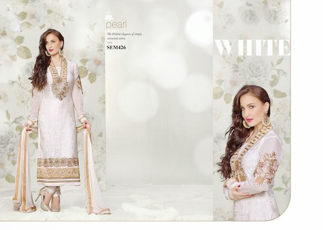 Buy Online Designer Brasso Long Salwar Kameez