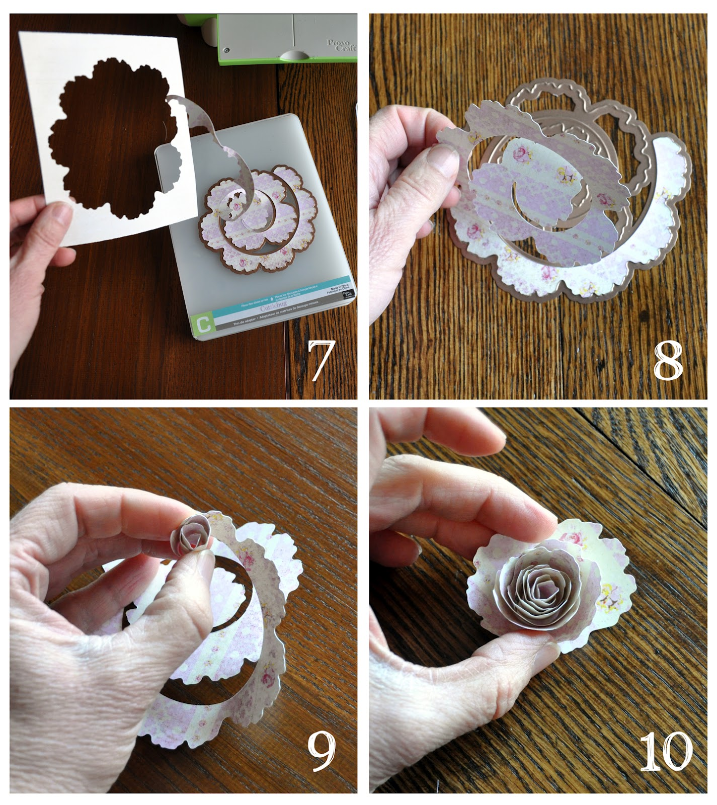 Lorrie everitt studio paper flowers using the spellbinder flower remove the scrap paper from the die and 8 carefully remove your cut flower shape from the die 9 to form the flower start with the smaller end of the die mightylinksfo