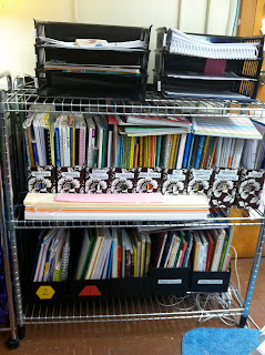 photo of classroom photo Teaching With Style  3rd grade organization wire rack