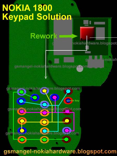 Nokia 1800 Keypad IC Jumper Diagram