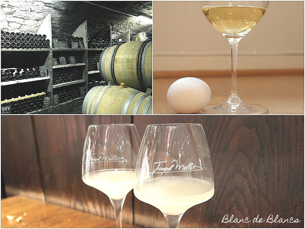 Kananmunaa viinissä - www.blancdeblancs.fi