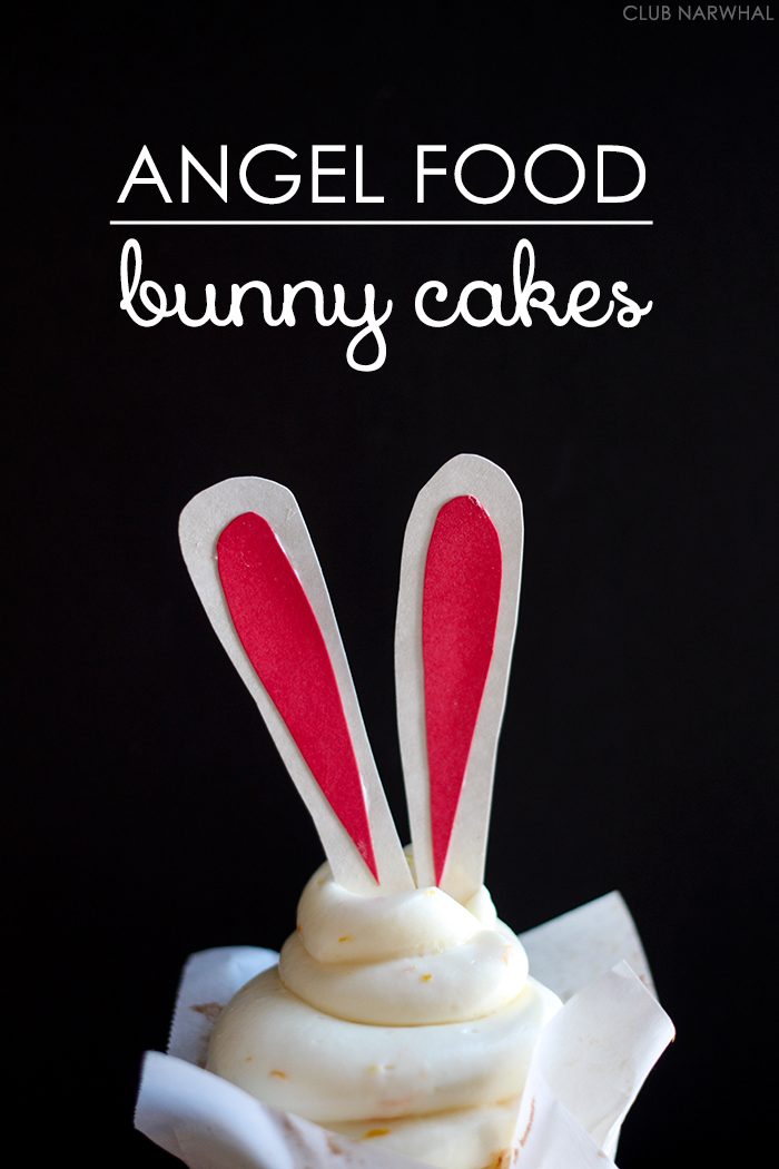 Angel Food Bunny Cakes | Sweet spring treats just in time for Easter!
