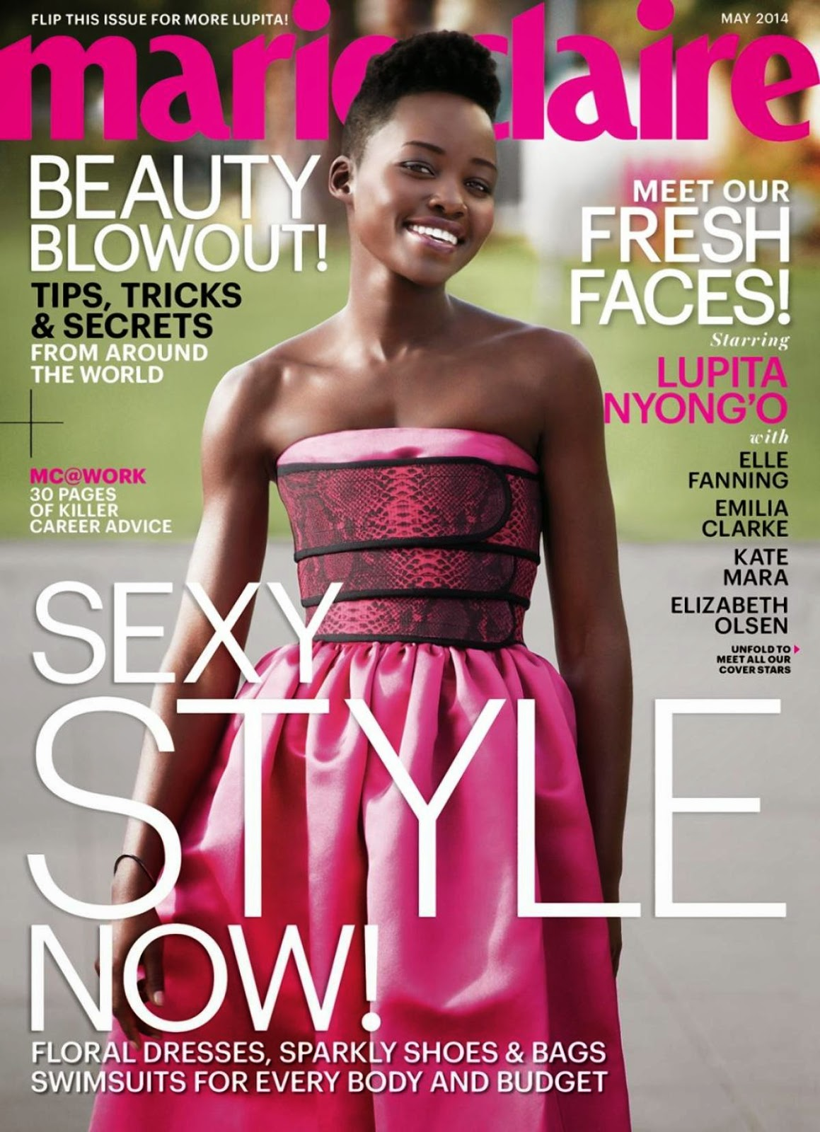 Lupita Nyong'o, Kate Mara, Elle Fanning, Emilia Clarke and Elizabeth Olsen are Marie Claire Fresh Face Cover Girls