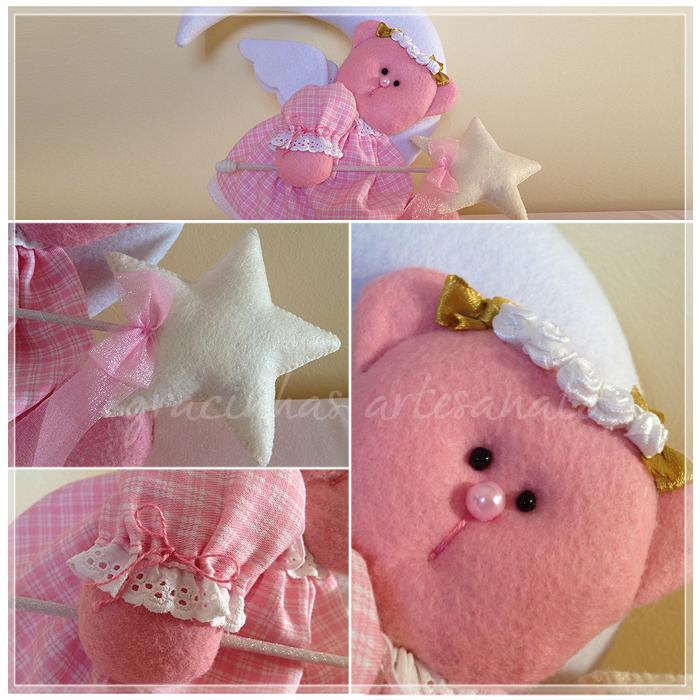 Feltro e tecido na decoração do quarto do bébé  Gracinhas Artesanato