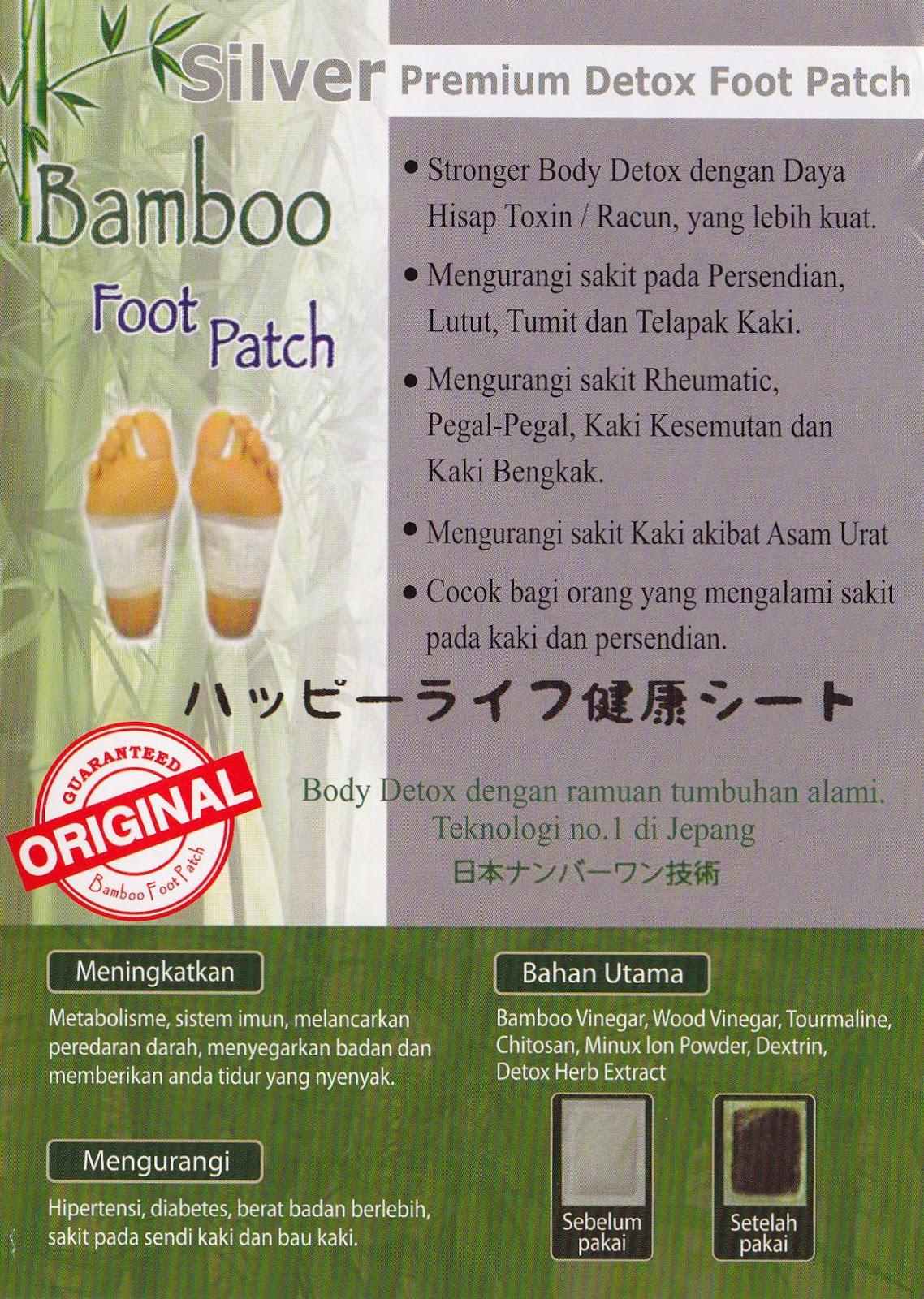 Jual Murah Koyo Kaki Bamboo Original Terbaru 2018 Gold Penyerap Racun Tubuh Silver
