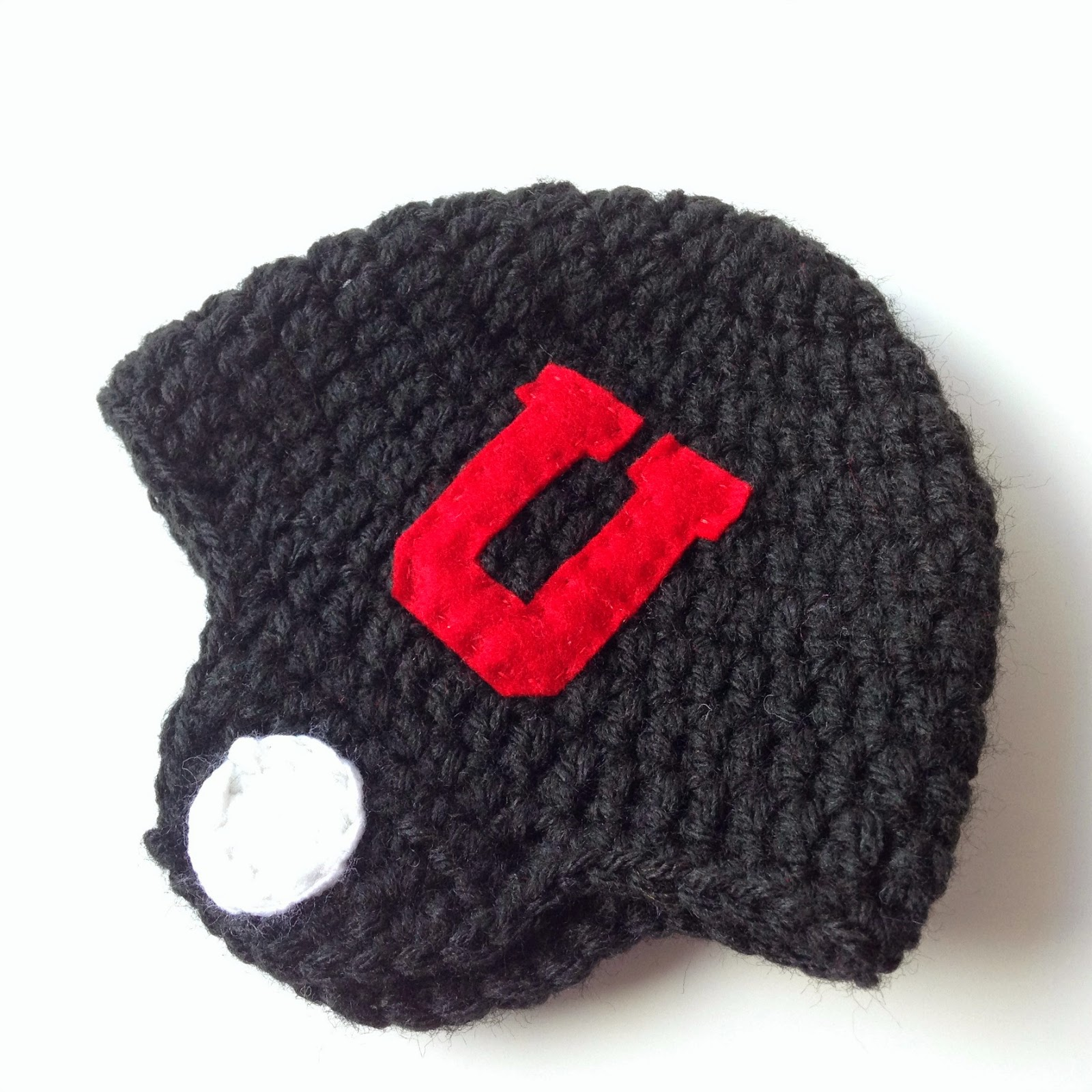5 little monsters crocheted football helmet hats free pattern 3 6 months bankloansurffo Choice Image