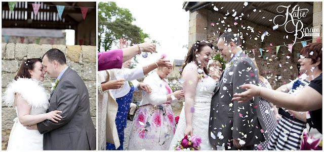 confetti wedding, confetti wedding photograph, bride in window, bridal prep, vintage wedding, high house farm brewery wedding, northumberland wedding photography katie byram photography,