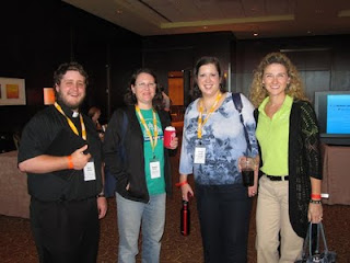Making new friends at CatholiCon 2011. Photo by Shelly Kelly
