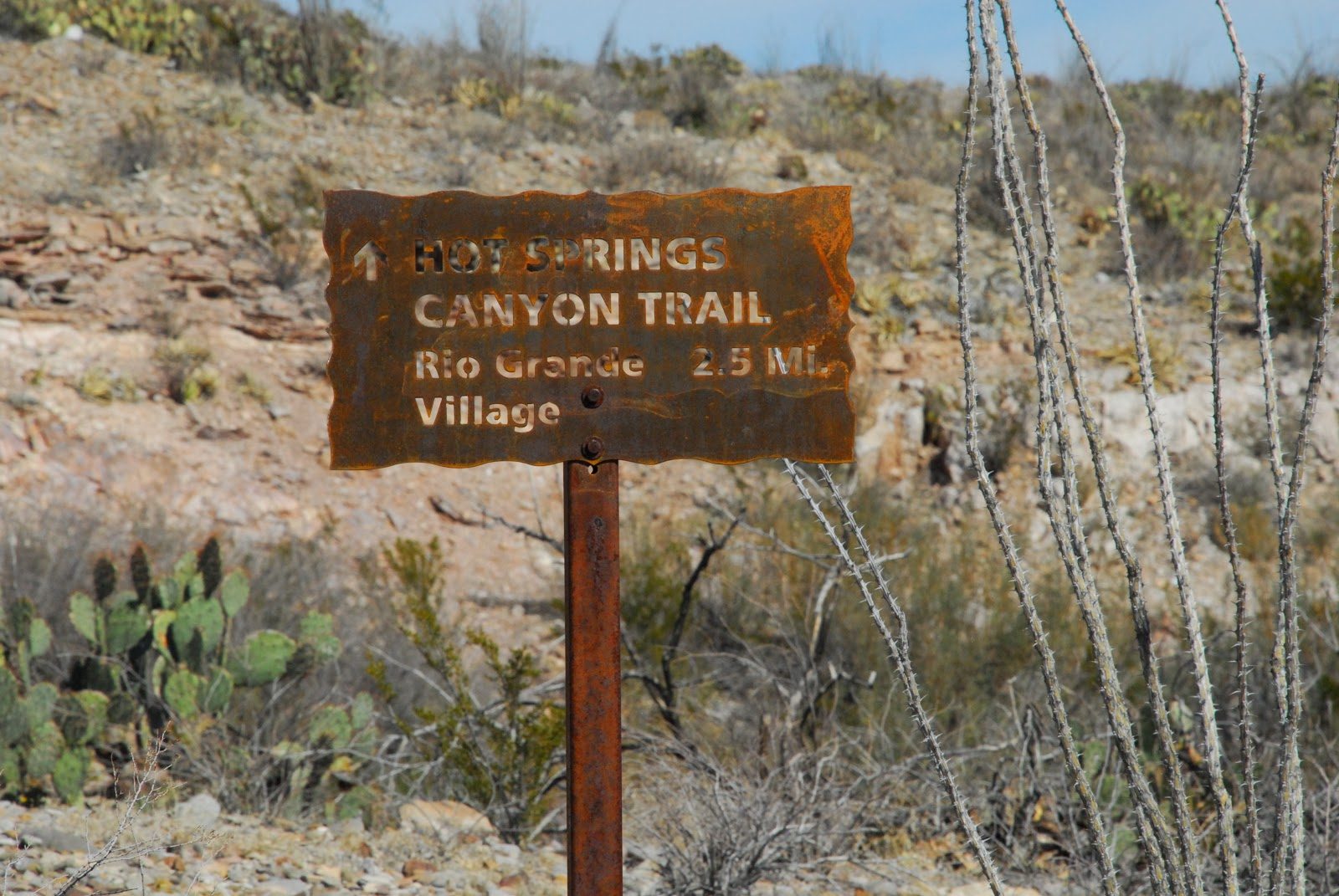 Texas Mountain Trail Daily Photo Hot Springs Canyon Trail Big Bend
