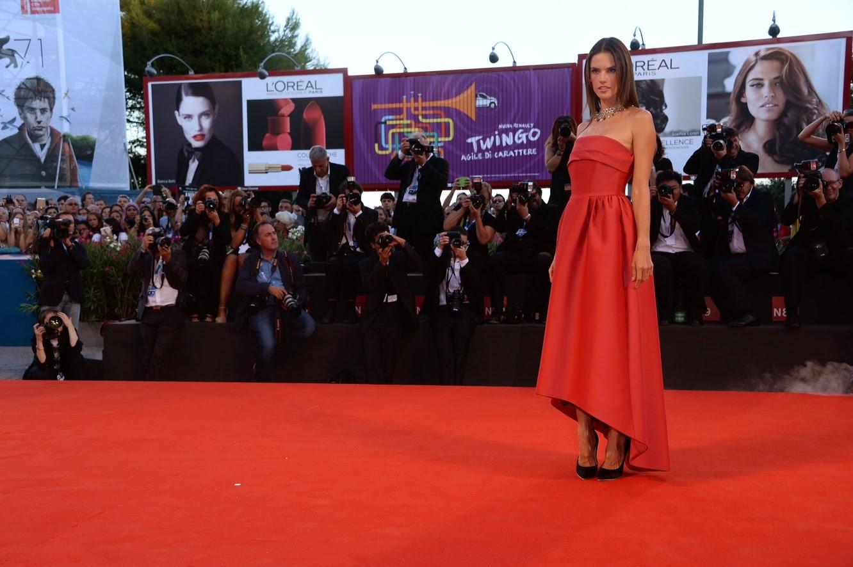 Alessandra Ambrosio for Alberta Ferretti at Venice Film Festival