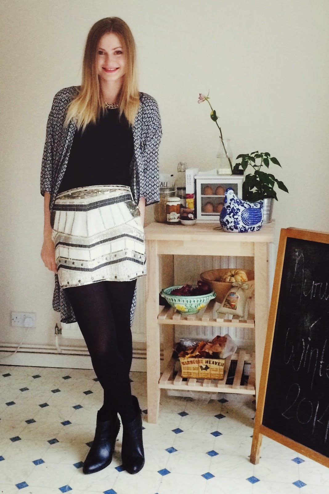 FashionFake, UK fashion blogger, UK fashion bloggers, white sequin skirt