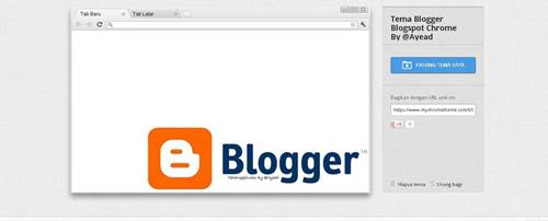 Tema Google Chrome Blogger