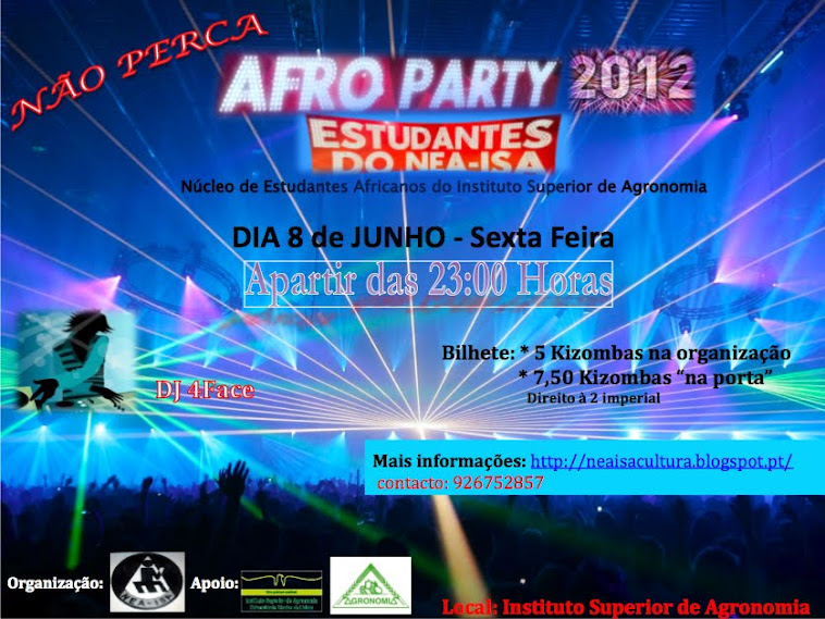 FESTA ISA AFRO NIGHT 2012
