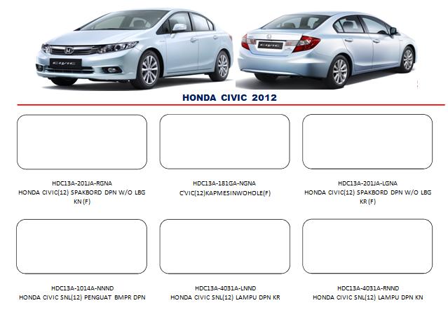 Bemper Honda Civic 2012