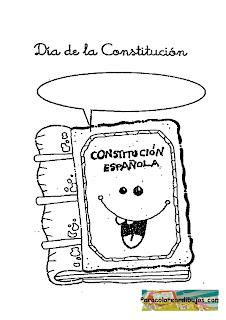 Dia de la constitución para colorear