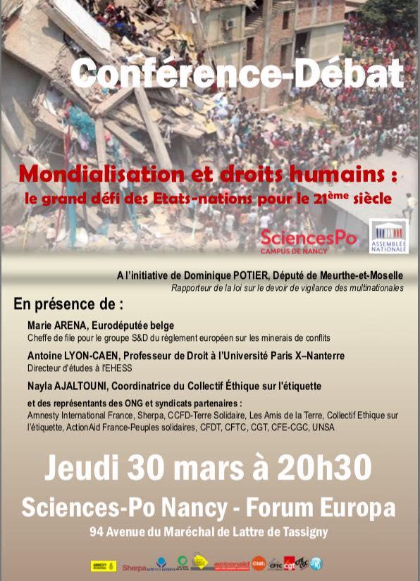 """Conférence-débat """"Mondialisation et droits humains"""""""