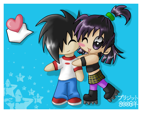 DP DannyxSam Chibi Love by brigette