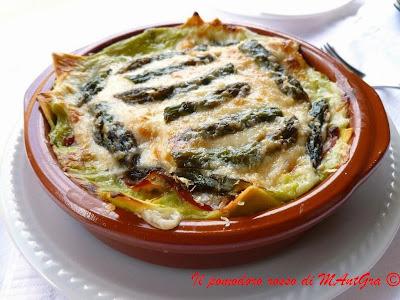 lasagne con asparagi e speck