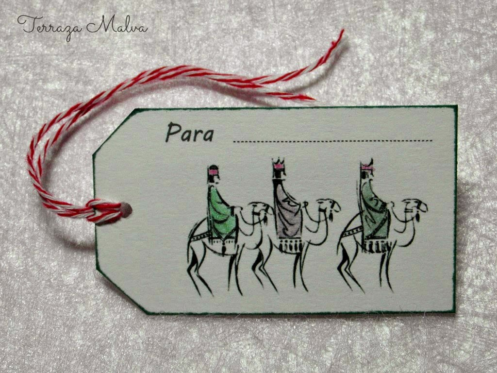 IMPRIMIBLE: ETIQUETA REYES MAGOS BLANCO Y NEGRO / PRINTABLE: 3 KINGS ...