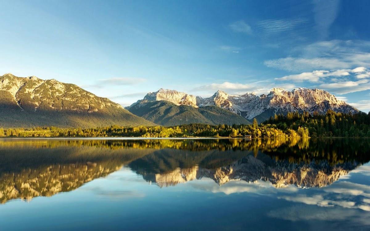 Amazing Mountain Reflection Widescreen HD Wallpaper