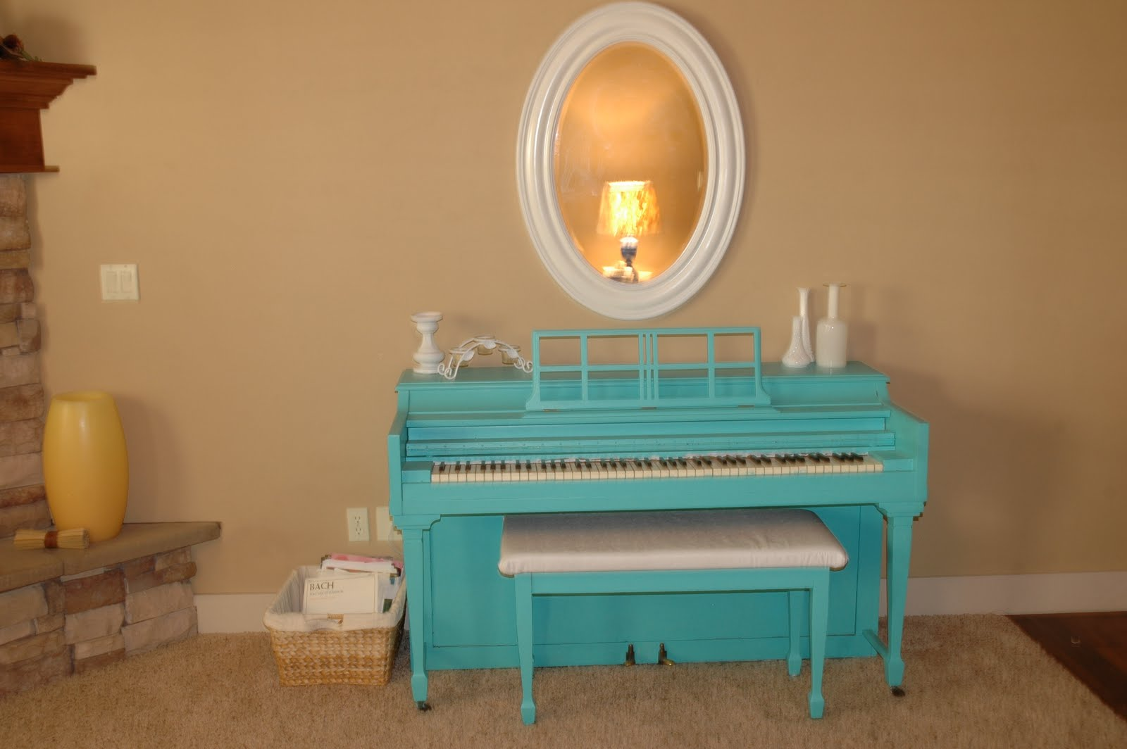 The Turquoise Piano Feature Friday Living Room