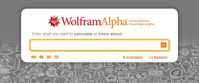 Portada de Wolfram Alpha