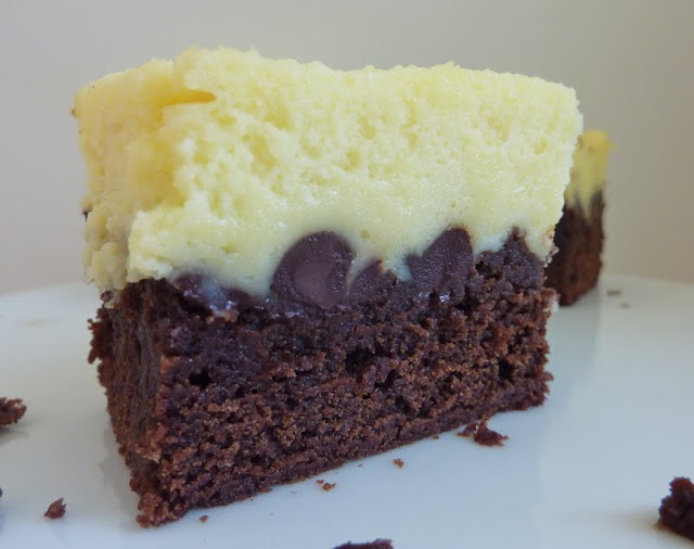 beurrista: black bottom cream cheese brownies