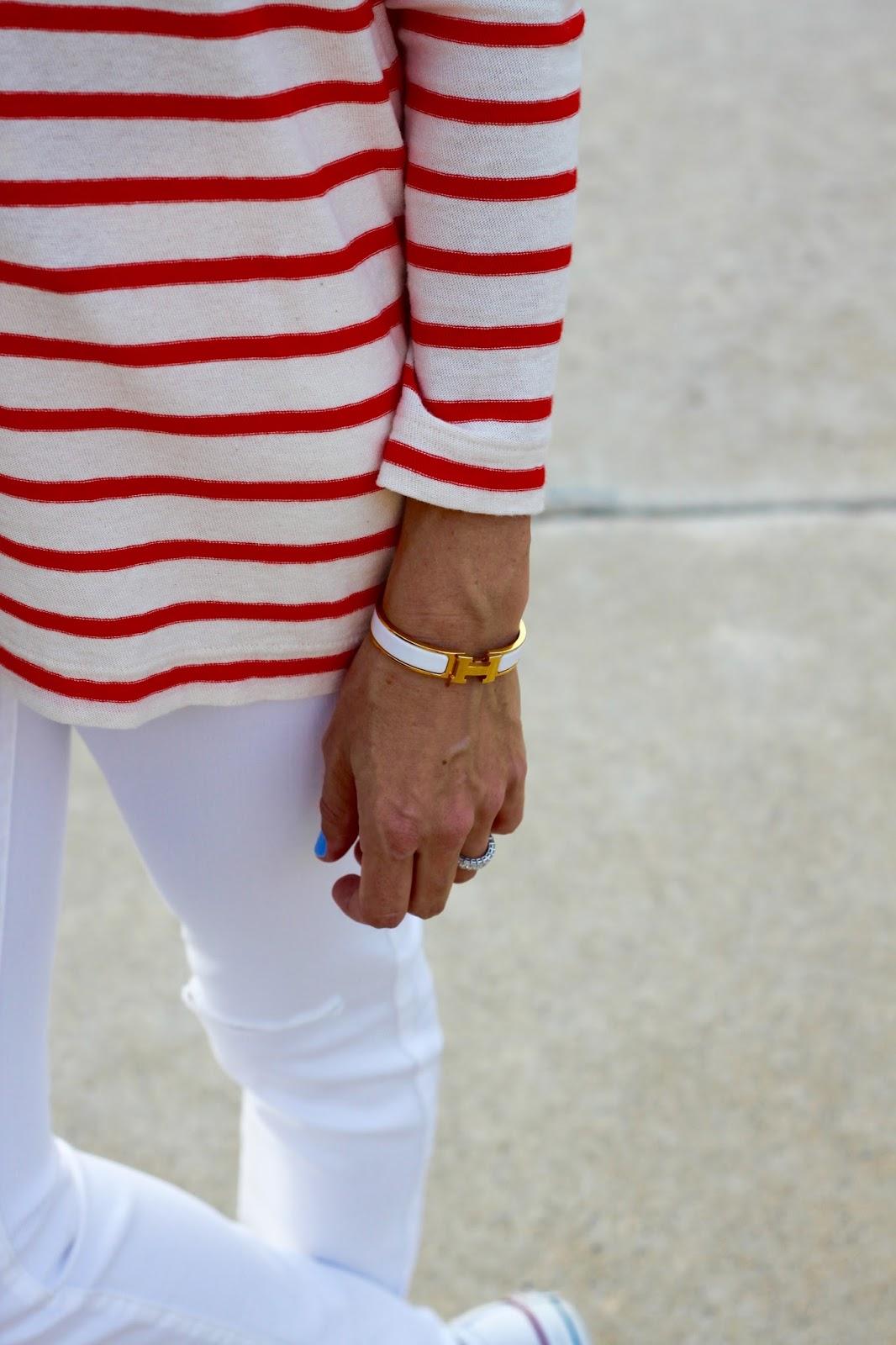 white hermes h bracelet