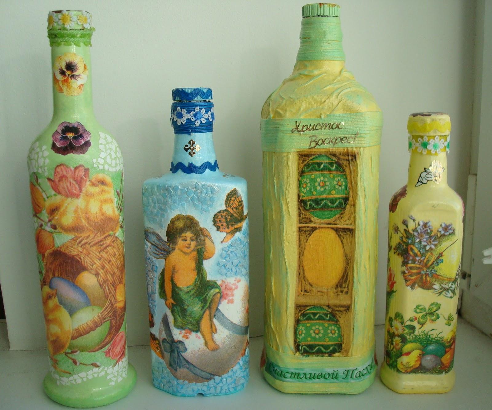 100 лучших идей: декор бутылок своими руками на фото 33