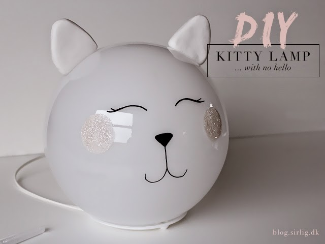 diy kitty lamp fado ikea hack sirlig bloglovin. Black Bedroom Furniture Sets. Home Design Ideas