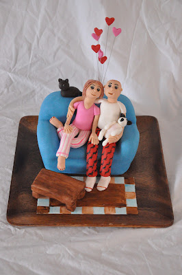 Fondant Cake Design For Husband : Baking In Faith: Carving a Couch Cake