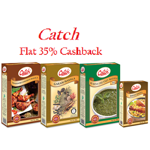 Paytm : Buy Catch Spices And get at Flat 35% Cashback on Rs. 200 only – buytoearn