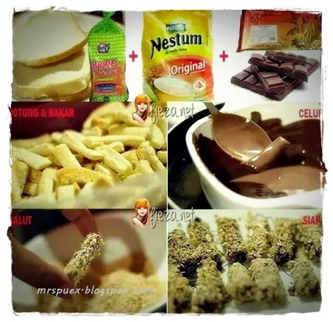 Resepi : Breadstick with nestum+choc