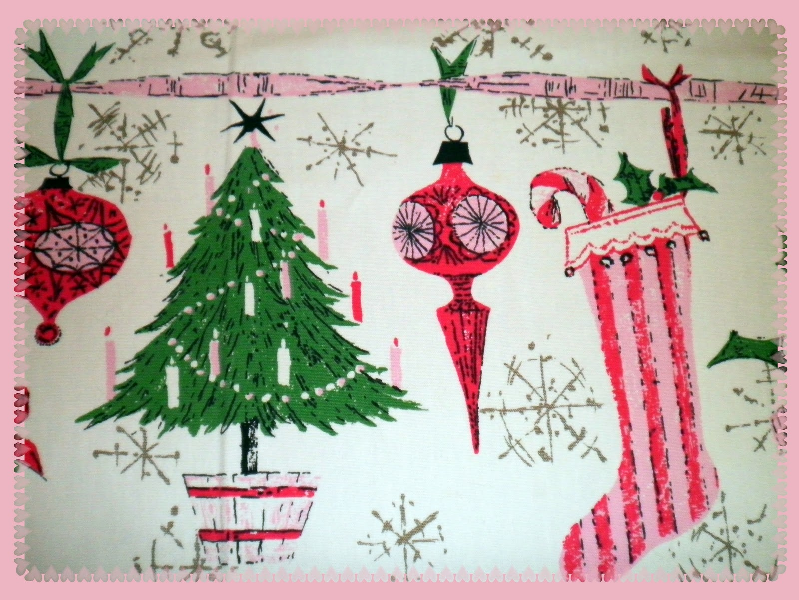 Virginia Retro: Luther Travis Christmas Tablecloth & TC Ladder