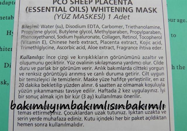 pco koyun plasentası maske kullananlar