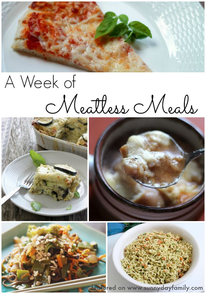 Go meatless with this easy meal plan for a week's worth of easy dinners your family will love!