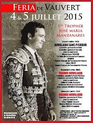 Manolo Vanegas, anunciado en la feria de Vauvert, el 05/07.