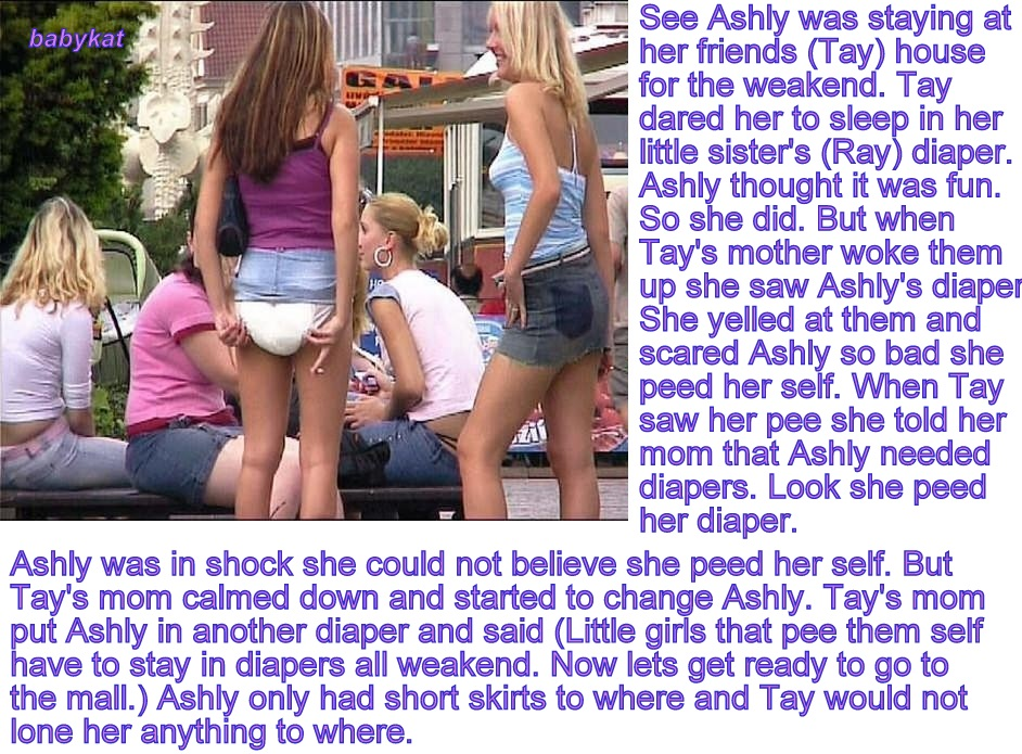 Diaper sissy baby captions