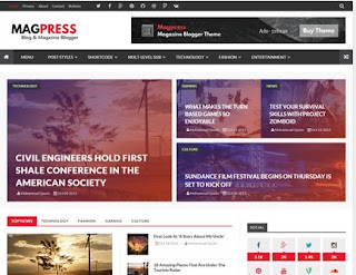 Mag Press Blogger Template