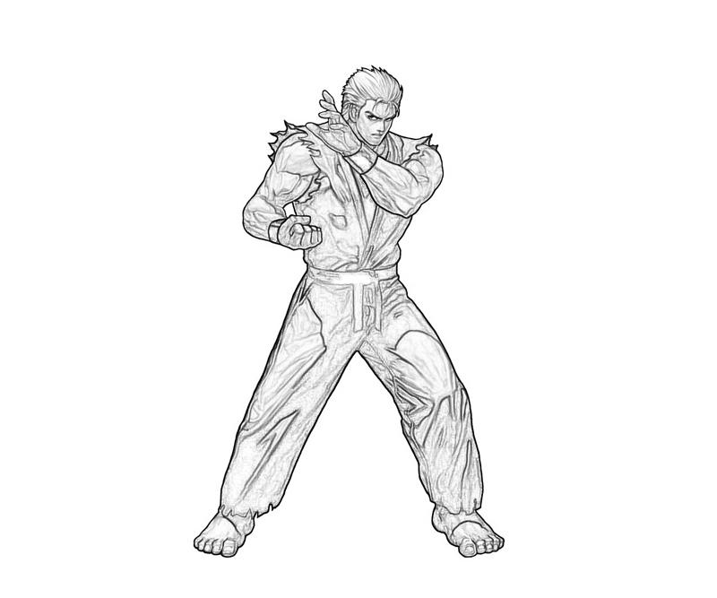 king-of-fighters-ryo-sakazaki-fighters-coloring-pages