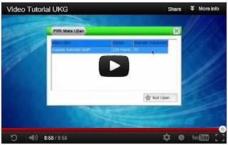 Video Tutorial UKG - Panduan Mengerjakan Ujian Uji Kompetensi Guru Online 2012